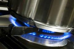 gasbrännarepanna Royaltyfria Foton