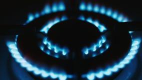 Gasbrenner, brennendes Erdgas stock footage