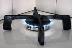 Gasbrenner mit einer Flamme stockfotos