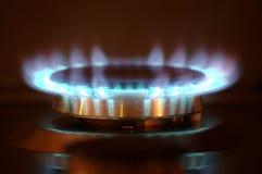 Gasburner i handling Arkivbilder