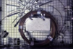 GASCHROMATOGRAPHIE-Spalte für chemische Mischungsreinigung stockfotos