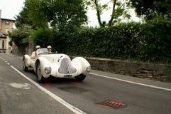 GASCROMATOGRAFIA 1750 di Alfa Romeo al Gran Premio storico 2015 di Bergamo Fotografia Stock