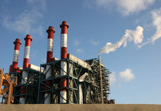 Gasemission lizenzfreies stockbild