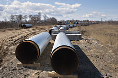 Gaseoducto Imagen de archivo libre de regalías