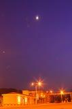 Gaseoducto en la noche fotos de archivo libres de regalías