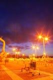 Gaseoducto en la noche fotografía de archivo libre de regalías