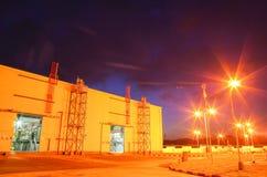 Gaseoducto en la noche imagen de archivo libre de regalías