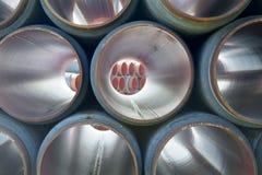 Gaseoductos grandes Foto de archivo libre de regalías