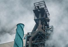 Gaseous emission. A lofty platform stock photography