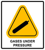 Gases under pressure sign. Vector symbol Royalty Free Stock Photography