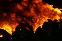Gasexplosie, brand en vernietiging, groot incident, stock afbeeldingen