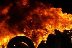 Gasexplosie, brand en vernietiging, groot incident, royalty-vrije stock fotografie