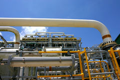 Gasfabrik Lizenzfreie Stockfotografie