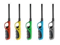 Gasfeuerzeuge von verschiedenen Farben Stockbild