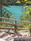 gash em braies do lago foto de stock royalty free