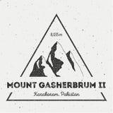 Gasherbrum II dans Karakoram, Pakistan extérieur Photographie stock