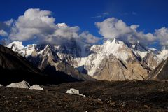 Gasherbrum IV from Gore II stock image