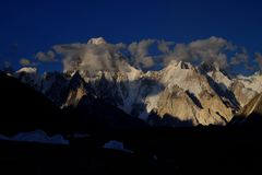 Gasherbrum IV from Gore II stock photography