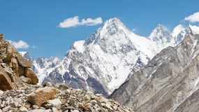 Gasherbrum IV, Karakorum, Paquistão imagem de stock