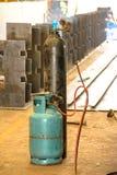 Gashouder in industrieel Royalty-vrije Stock Foto's