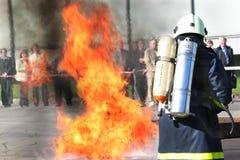 gasi wojownika ogień Zdjęcie Royalty Free