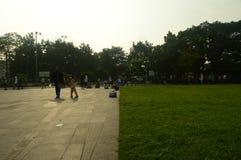 Gasibu pole w Bandung zdjęcia stock