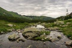 Gasienicowavallei in Juni De bergen van Tatra polen royalty-vrije stock foto's