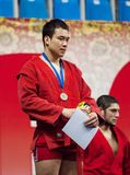 Gasimov Kanan on podium Royalty Free Stock Image