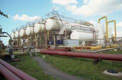Gasindustri. gas-överföring Arkivfoto