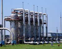 Gasindustrie Lizenzfreie Stockfotografie
