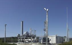 Gasindustrie und Netzverteilungspunkt Stockbild