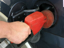 Gasing Up The Car Royalty Free Stock Images
