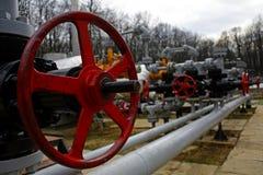 Gasinstalation stock afbeelding