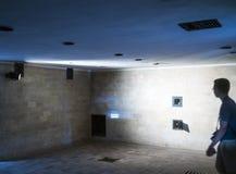 Gaskammare av den Dachau koncentrationsläger Här fångeweren arkivfoton