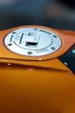 Gaskappe des Motorrads Stockfoto