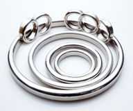Gasket and flanges for mechanical seal Royalty Free Stock Photos