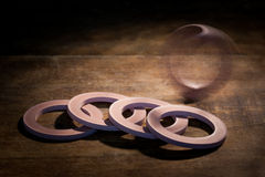 Gasket and flanges for mechanical seal Stock Photos