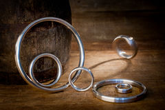 Gasket and flanges for mechanical seal Stock Photography