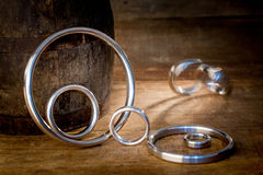 Gasket and flanges for mechanical seal Royalty Free Stock Image