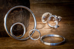 Gasket and flanges for mechanical seal Stock Images