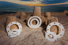 Gasket and flanges Stock Image