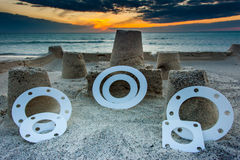 Gasket and flanges Royalty Free Stock Photos