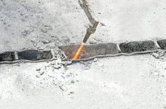 Gasknipsel van het metaal Stock Afbeelding