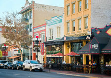 Gaslamp Historic District, San Diego, California royalty free stock images