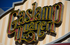 Gaslamp quarter entry sign - 3 Stock Photo