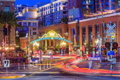 The Gaslamp Quarter in San Diego, California, royalty free stock image