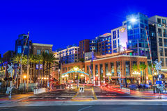 The Gaslamp Quarter in San Diego, California, Royalty Free Stock Photos