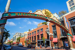 The Gaslamp Quarter in San Diego, California Royalty Free Stock Photo
