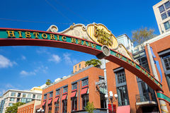 The Gaslamp Quarter in San Diego, California Royalty Free Stock Photography