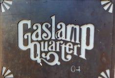 Gaslamp Quarter. San Diego sign gaslamp Quarter stock photos